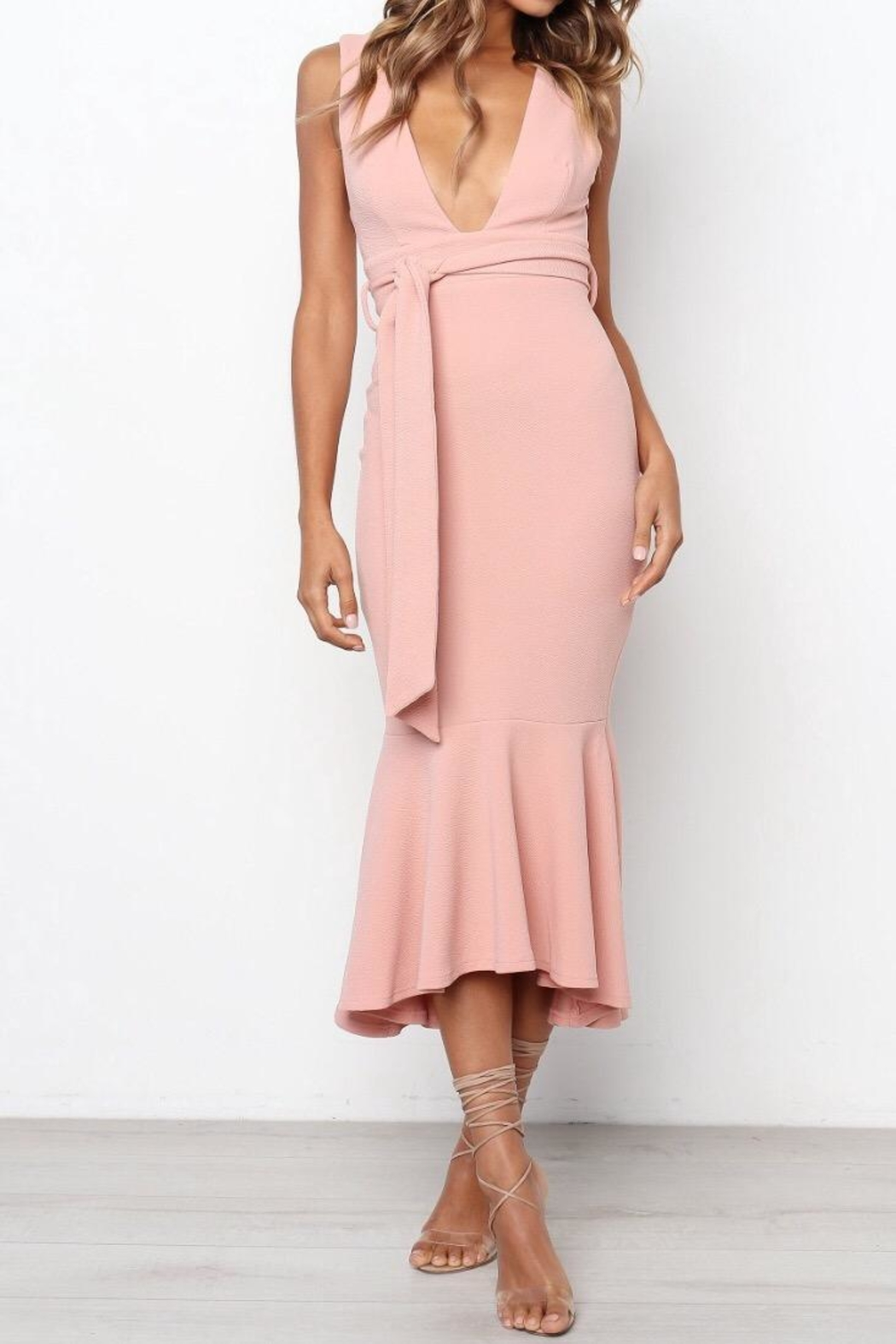 Chikas Blush Dress - Front Full Image
