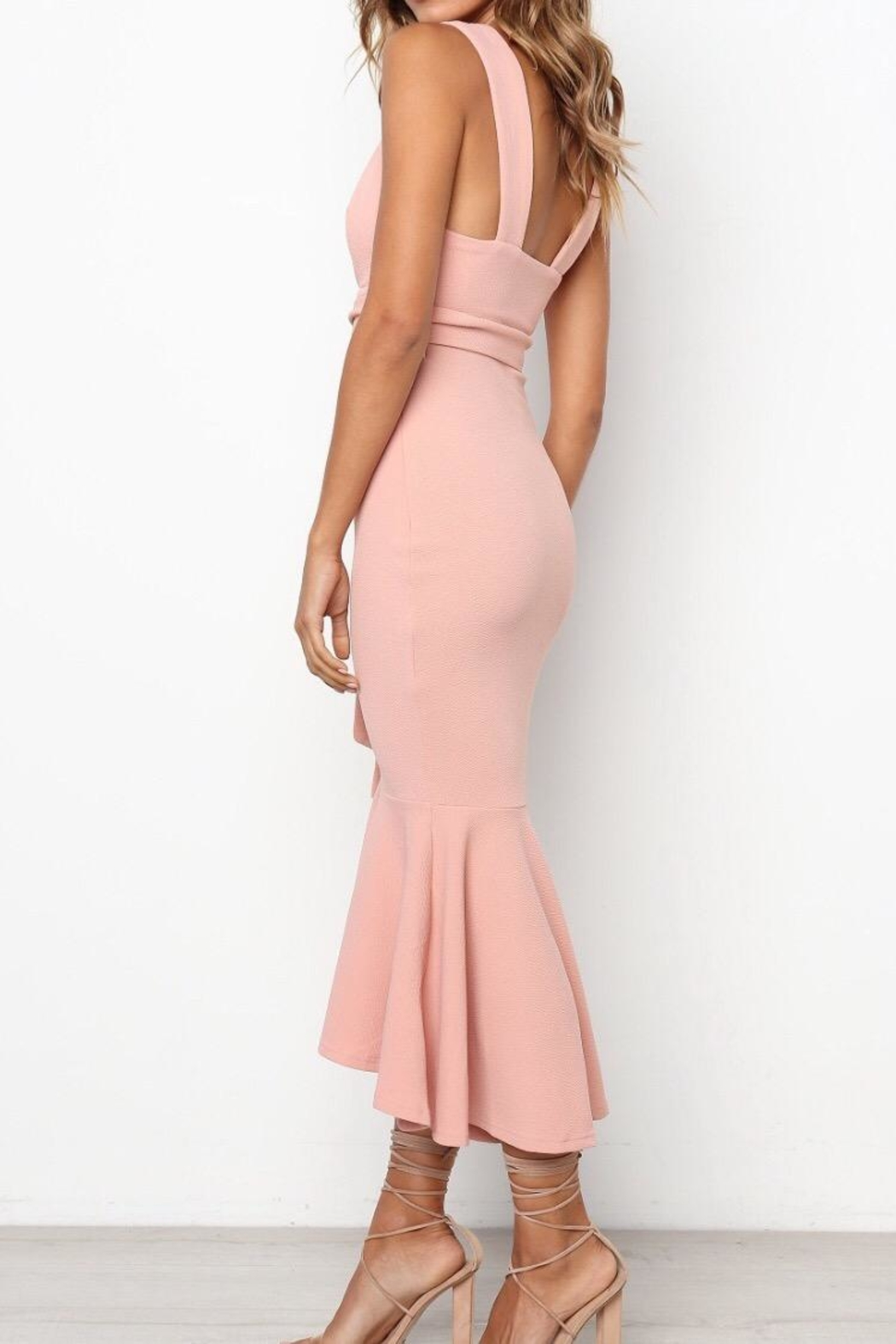Chikas Blush Dress - Side Cropped Image