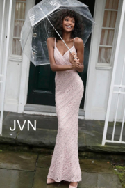 Jovani Blush Embroidered Gown - Product Mini Image