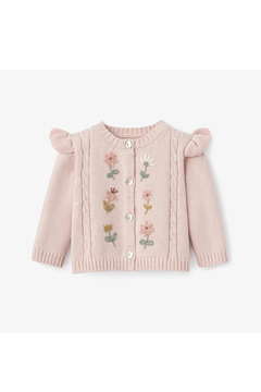 Shoptiques Product: Blush Floral Embroidered Cardigan