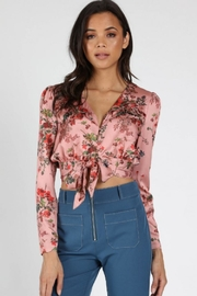 Honey Punch Blush Floral Top - Product Mini Image