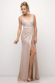Cinderella Divine Blush Metallic Long Formal Dress - Product Mini Image