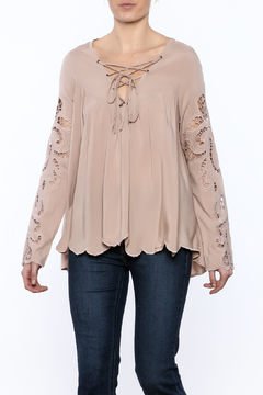 Blush Noir Pink Long Sleeves Top - Product List Image