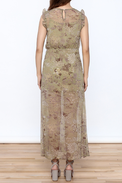 Blush Noir Olive Floral Midi Dress - Alternate List Image