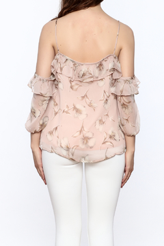 Blush Noir Floral Frills Blouse - Alternate List Image
