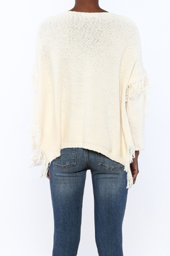 Blush Noir Fringe Poncho Sweater - Alternate List Image