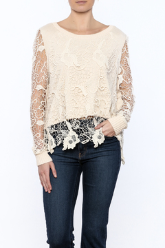 Blush Noir Overlay Lace Top - Product List Image