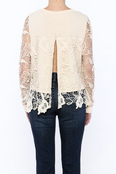 Blush Noir Overlay Lace Top - Alternate List Image