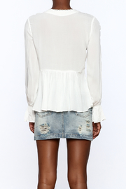 Blush Noir Lightweight White Top - Back cropped