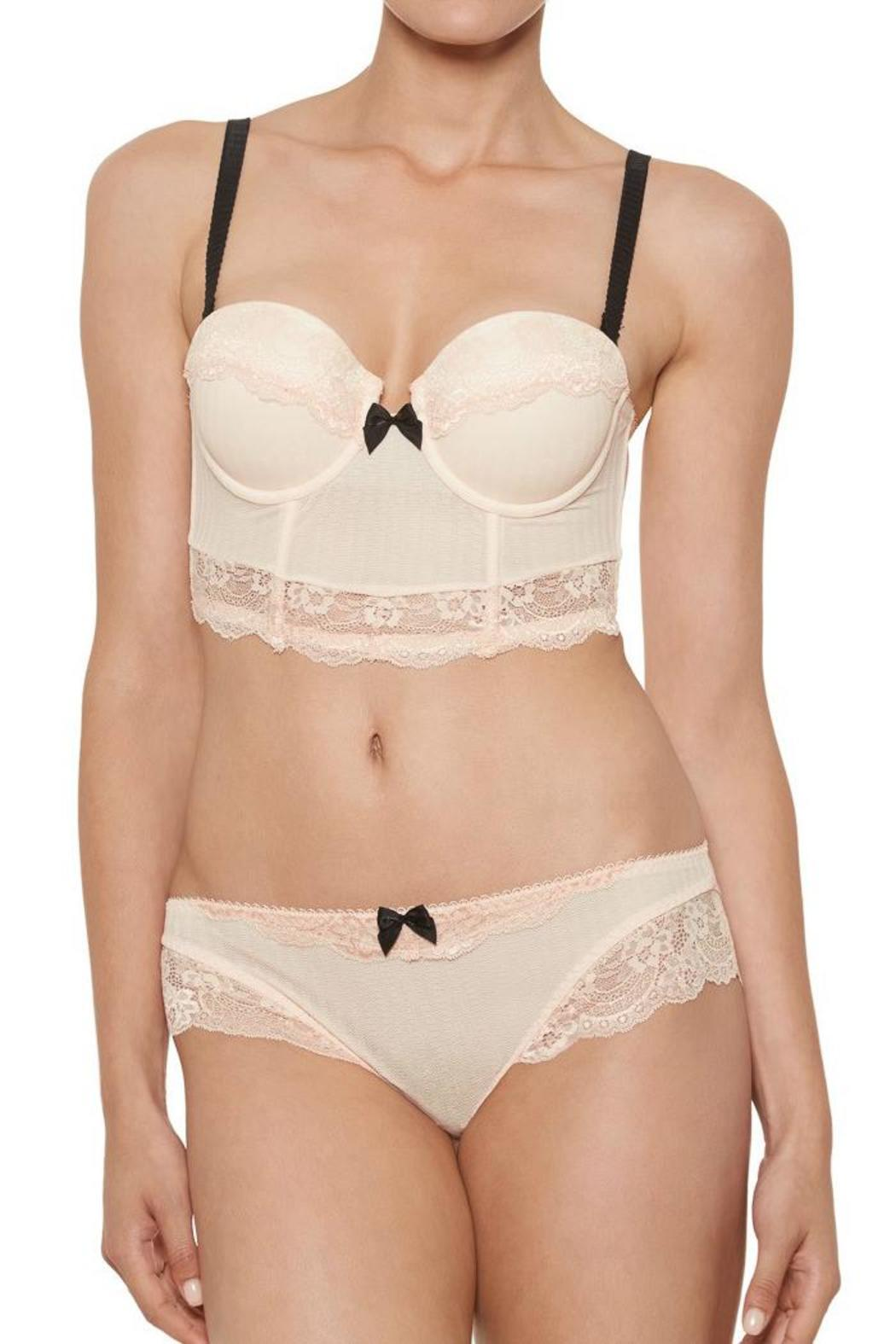 Blush Obsession Longline Bra - Front Cropped Image