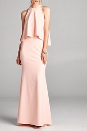 Goldspark Blush Peplum Dress - Product Mini Image