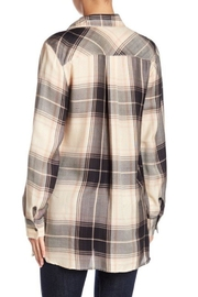 Nostalgia Blush-Pink Plaid Blouse - Front full body
