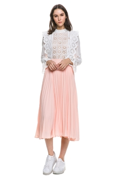 English Factory Blush Pleated Skirt - Alternate List Image