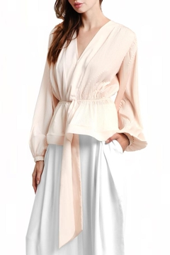 Gracia Blush Pleated Top - Product List Image