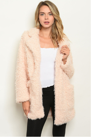 Shop The Trends  Blush plush coat - Front cropped