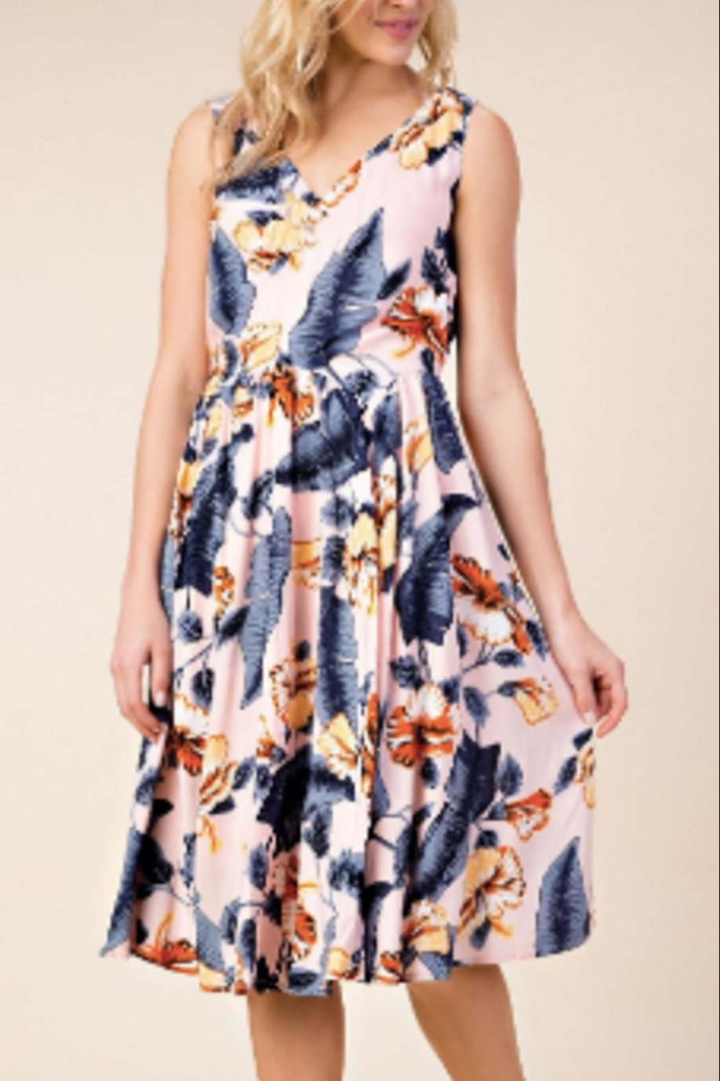 KORI AMERICA Blush Printed Dress - Side Cropped Image