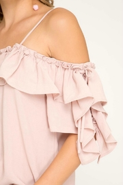 She + Sky Blush Ruffle-Sleeve Off-The-Shoulder - Side cropped