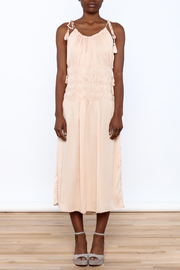 English Rose Blush Sleeveless Midi Dress - Product Mini Image