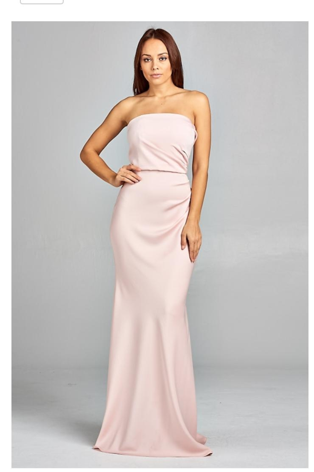 AG Studio Blush Strapless Gown - Main Image