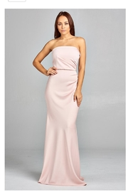 AG Studio Blush Strapless Gown - Front cropped