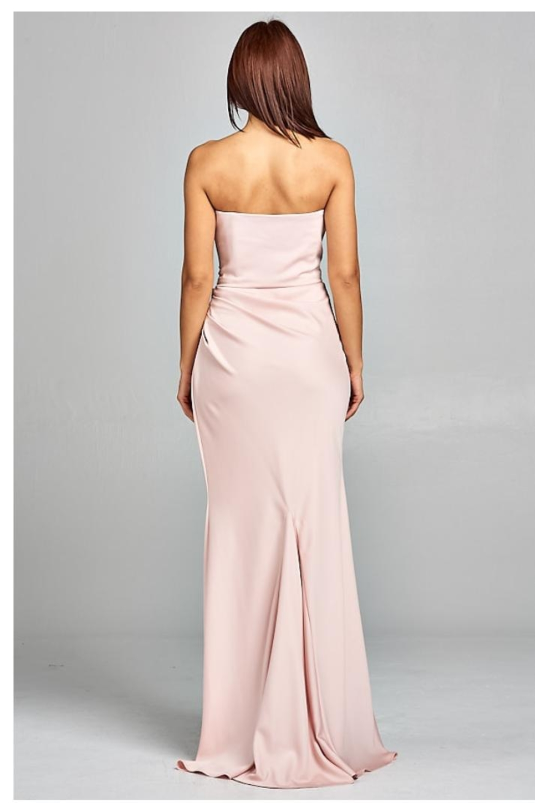 AG Studio Blush Strapless Gown - Side Cropped Image