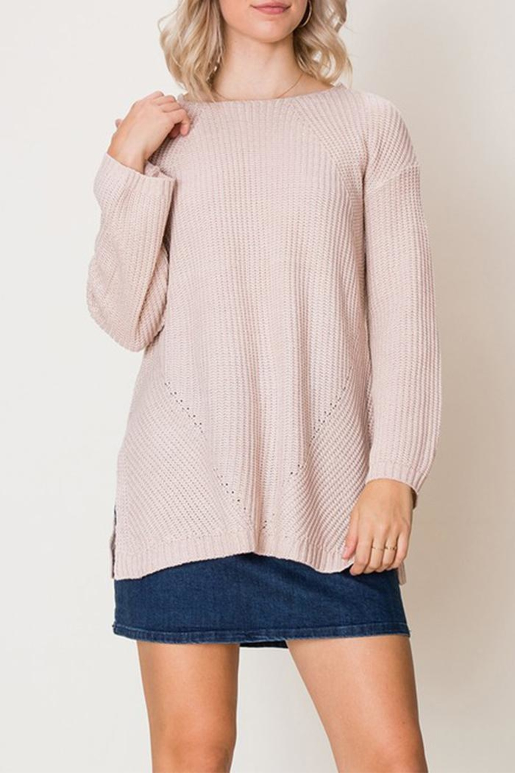 HYFVE Blush Sweater - Front Cropped Image