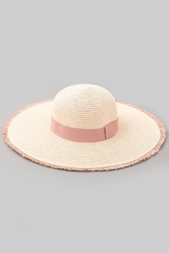 Unlabel Blush Trim Sunhat - Alternate List Image