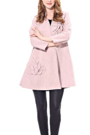 Papa Fashions Blush Ultra Suede Jacket - Product Mini Image