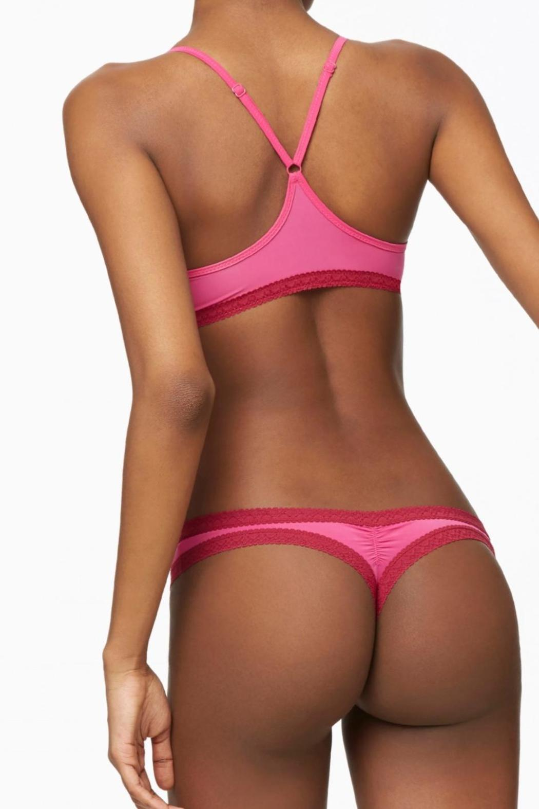 blush lingerie Pretty Little Thong - Side Cropped Image