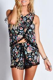 Blush Noir Black Floral Top - Product Mini Image