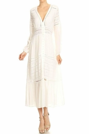 Blush Noir Boho White Maxi - Product Mini Image