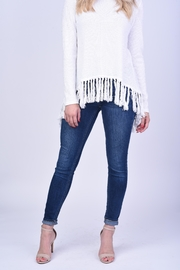 Blush Noir Fringe Sweater - Product Mini Image