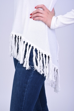 Blush Noir Fringe Sweater - Alternate List Image