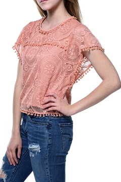 Blush Noir Coral Lace Top - Product List Image