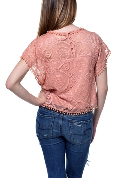 Blush Noir Coral Lace Top - Alternate List Image