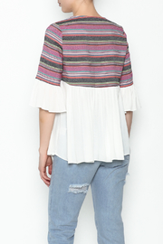 Blushing Heart Peasant Style Blouse - Back cropped