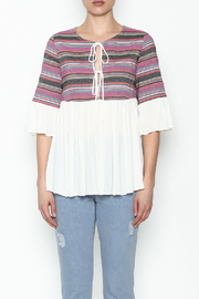 Blushing Heart Peasant Style Blouse - Front full body