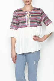 Blushing Heart Peasant Style Blouse - Front cropped