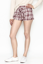 Blushing Heart Tie Waist Shorts - Product Mini Image