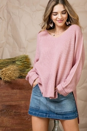 Main Strip Blushing Over-You Sweater - Product Mini Image