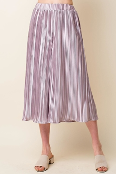 Blushing Heart Accordion Pleat Culottes - Product List Image