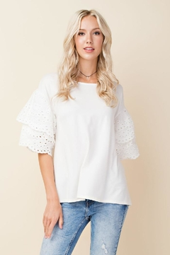 Blushing Heart Eyelet Lace Top - Alternate List Image