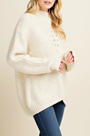 Blushing Heart Ivory Knit Sweater - Product Mini Image