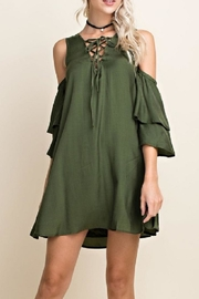 Blushing Heart Olive Dress - Product Mini Image