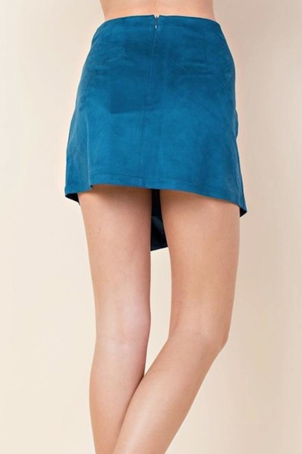 Blushing Heart Suede Skirt - Side Cropped Image