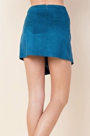 Blushing Heart Suede Skirt - Side cropped