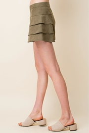 Blushing Heart Suede Tired Shorts - Front full body