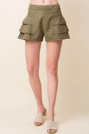Blushing Heart Suede Tired Shorts - Product Mini Image