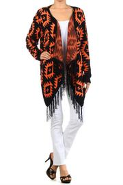 Blvd Aztec Fringe Sweater - Product Mini Image