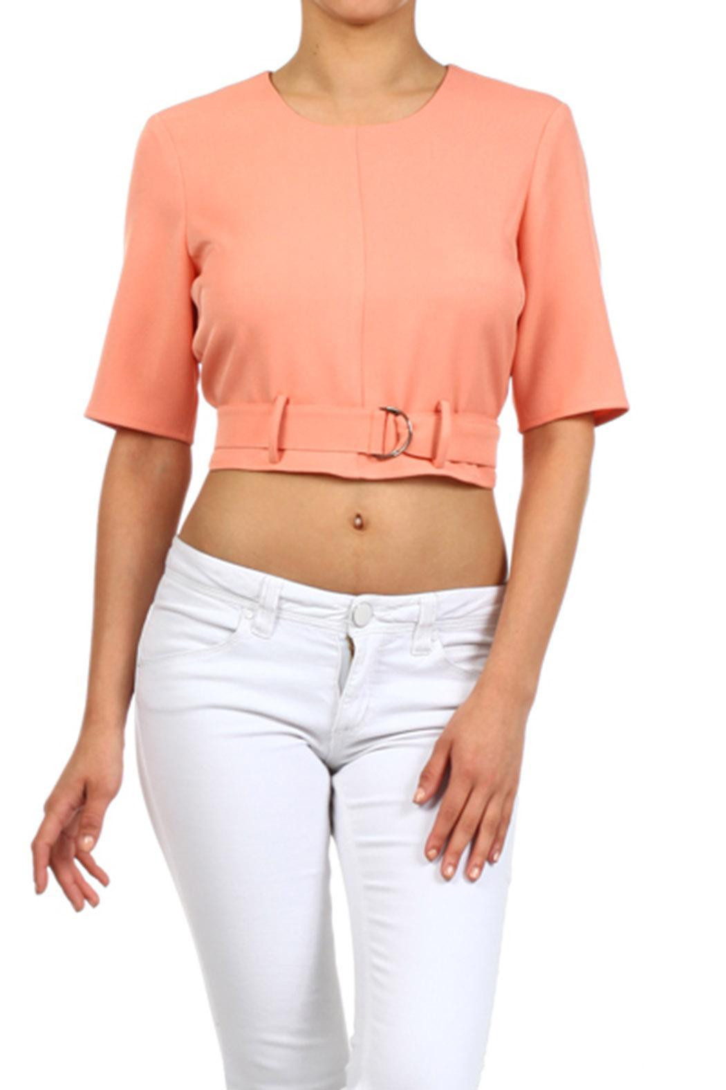 Blvd Belted Crop Top - Main Image